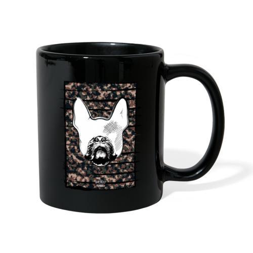 Französische Bulldogge Camouflage Silhouette - Tasse einfarbig
