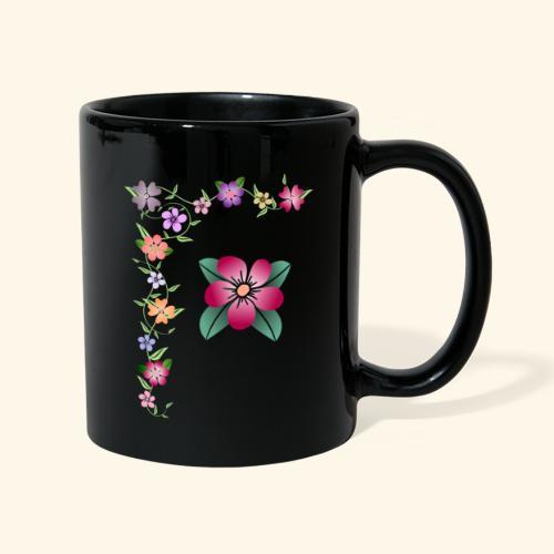 Blumenranke, Blumen, Blüten, floral, blumig, bunt - Tasse einfarbig