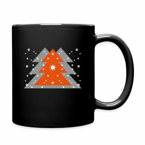 Weihnachten und Schnee - Tasse einfarbig