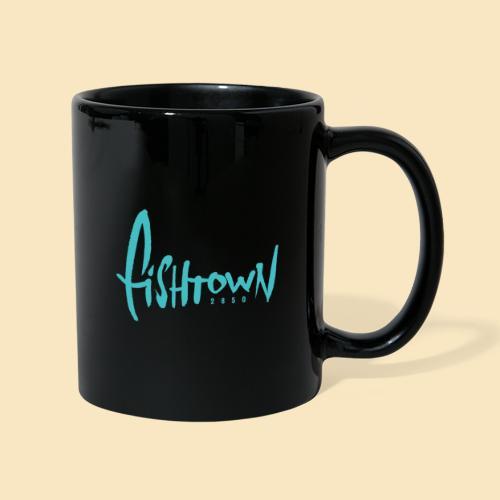 Fishtown 2850 handdrawn brightblue - Tasse einfarbig