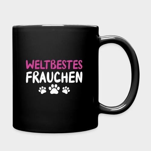 Weltbestes Frauchen Hundeliebe Hund - Tasse einfarbig