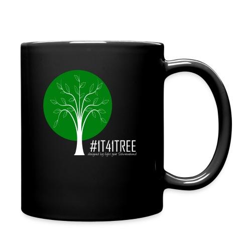 1T41Tree - ein verk. Shirt = ein Baum - Tasse einfarbig