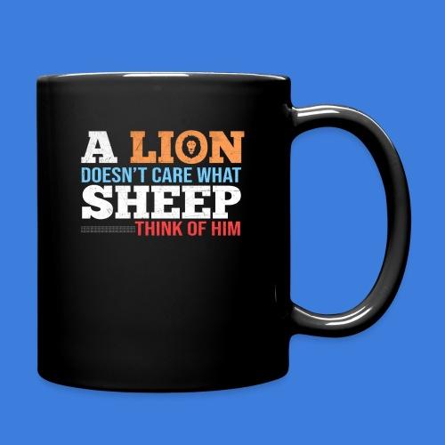 Einen Löwen interessiert nicht, was Schafe denken - Tasse einfarbig