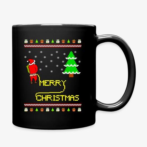 Merry Christmas Ugly Xmas Lustig Pinkelnder Santa - Tasse einfarbig