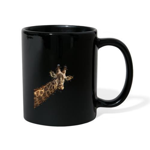 Giraffenkopf gemalter Kopf einer Giraffe - Tasse einfarbig