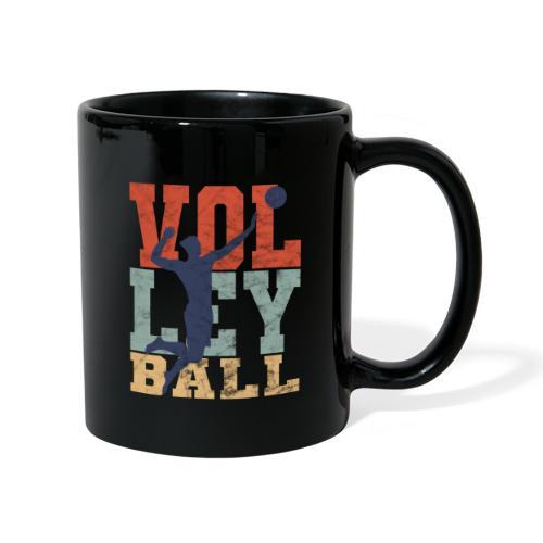 Volleyball Retro Mann Volleballer Geschenke - Tasse einfarbig