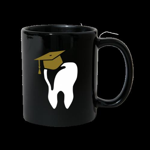 Zahn mit Doktorhut für Zahnarzt Zahnmedizin - Tasse einfarbig