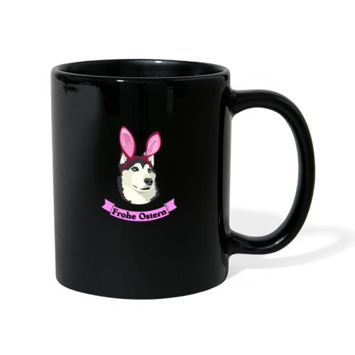 Frohe Ostern - Husky - Tasse einfarbig