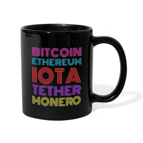 Retro Crypto | Bitcoin, Ethereum, IOTA, Tether - Tasse einfarbig