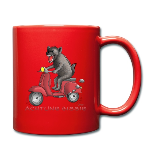 Hyäne - Achtung bissig - Tasse einfarbig