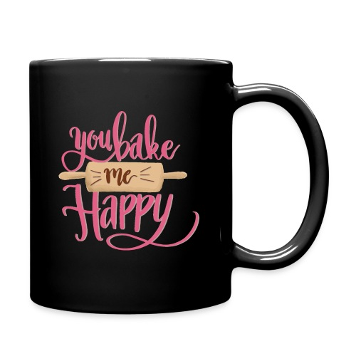 You bake me HAPPY (pink) - Enfärgad mugg