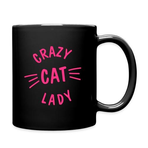 Vorschau: Crazy Cat Lady meow - Tasse einfarbig
