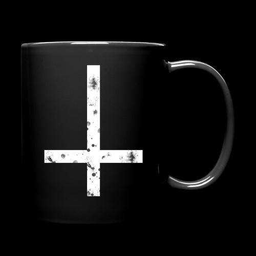 inverted cross white png - Full Colour Mug