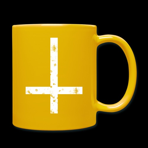 inverted cross white png - Full Colour Mug
