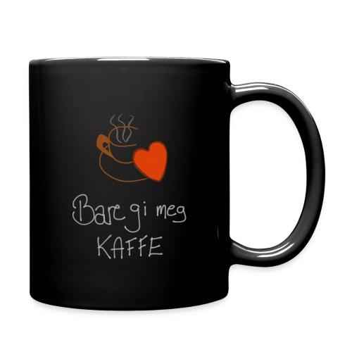 Kaffe - Ensfarget kopp