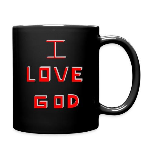 I LOVE GOD - Taza de un color