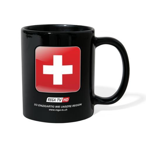 REGA-TV: Switzerland, weisse Schrift - Tasse einfarbig