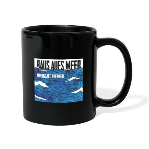 Raus aufs Meer quadratisch - Tasse einfarbig