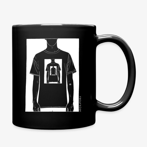 Recursion inverted | Geek | Art | Loop | - Full Colour Mug