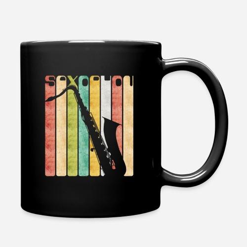 Retro Saxophon - Tasse einfarbig