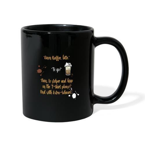 Ein witziges Kaffee to go Design als Geschenk - Tasse einfarbig