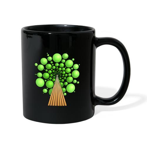 Kugel-Baum, 3d, hellgrün - Tasse einfarbig