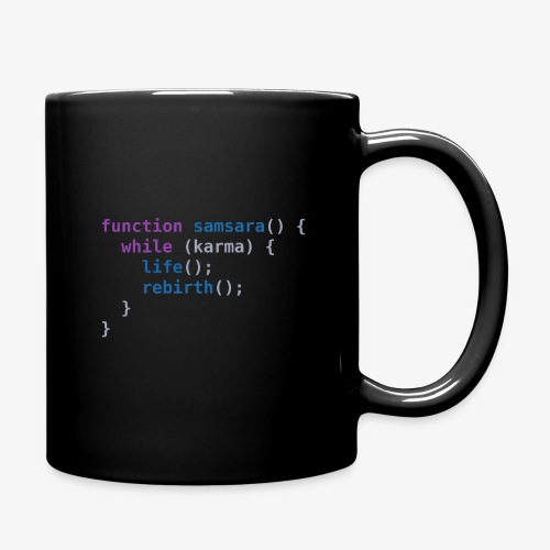 Funny T-Shirt: Samsara in JavaScript Programmer - Full Colour Mug