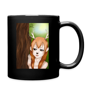 Womens tank: Deer-girl Design by Tina Ditte - Full Colour Mug