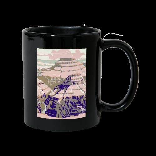 Rocky Mountains Vintage Travel Poster - Full Colour Mug