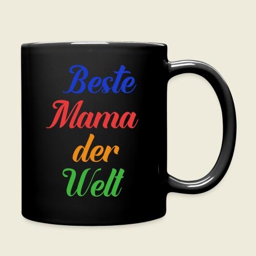 Beste Mama der Welt schön bunt - Tasse einfarbig