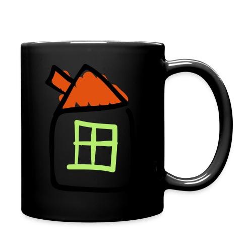 House Line Drawing Pixellamb - Tasse einfarbig