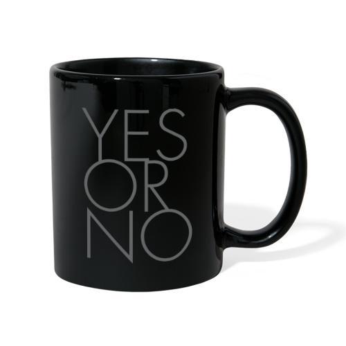 Yes or No - Tasse einfarbig