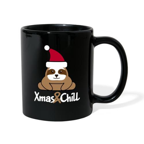 Faultier Weihnachten süß lustig Geschenk - Tasse einfarbig