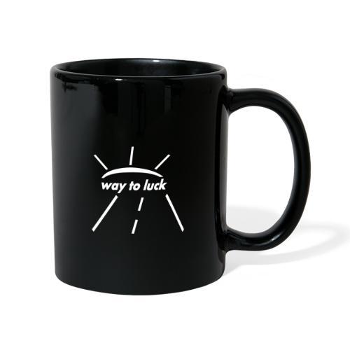 way to luck logo weiß - Tasse einfarbig