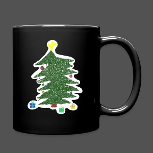 Christmas Kids-Drawing - Tasse einfarbig