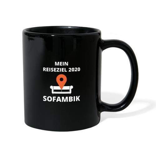 Reiseziel 2020 - SOFAMBIK Lustiger Spruch Corona - Tasse einfarbig