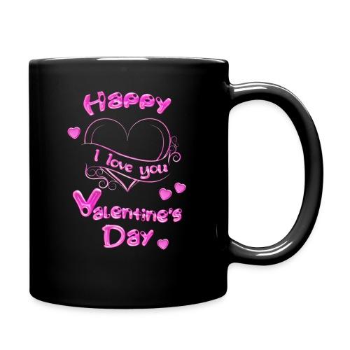 Happy Valentines Day Valentinstag in pink - Tasse einfarbig