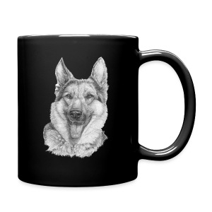 Schæfer German shepherd - Ensfarvet krus