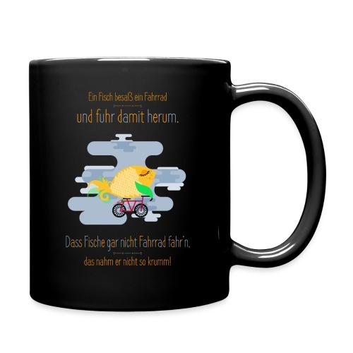 Der Fahrrad-Fisch - Tasse einfarbig