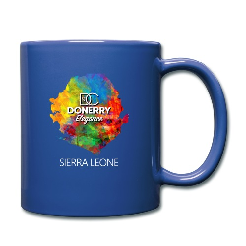 Sierra Leone Colourful Map Dark - Full Colour Mug