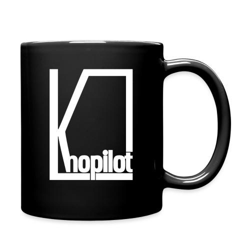 Quadrat weiss Knopilot - Tasse einfarbig