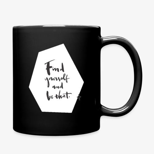 Find yourself (Quote) - Full Colour Mug