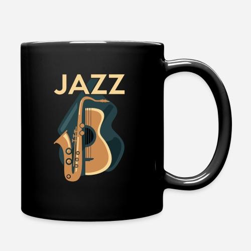 Jazz Gitarre mit Saxophon - Tasse einfarbig
