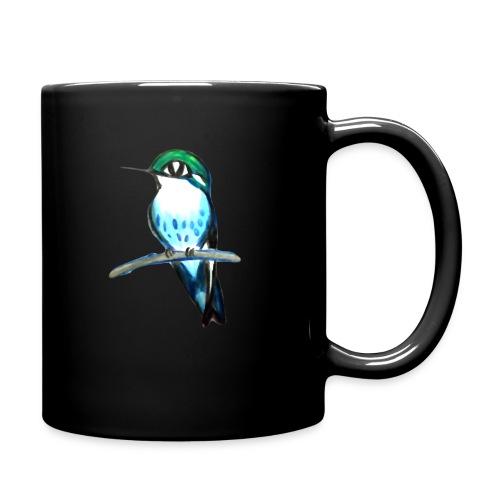 Bird on a branch - Enfärgad mugg