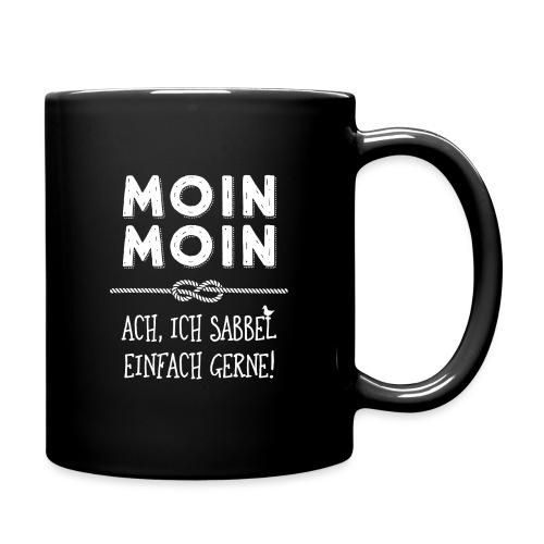 Moin - plattdeutscher norddeutscher Spruch - Tasse einfarbig