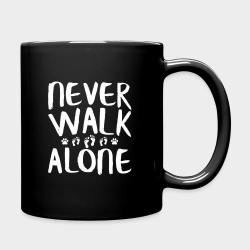Never Walk Alone Hund - Tasse einfarbig