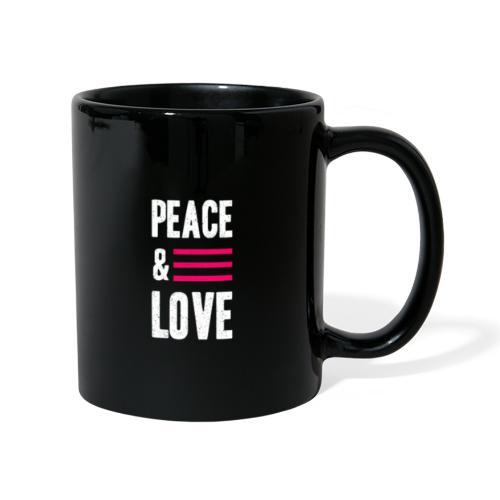 Peace and Love - Tasse einfarbig