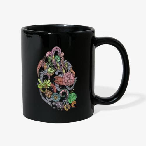 Flower Power - Rough - Enfärgad mugg