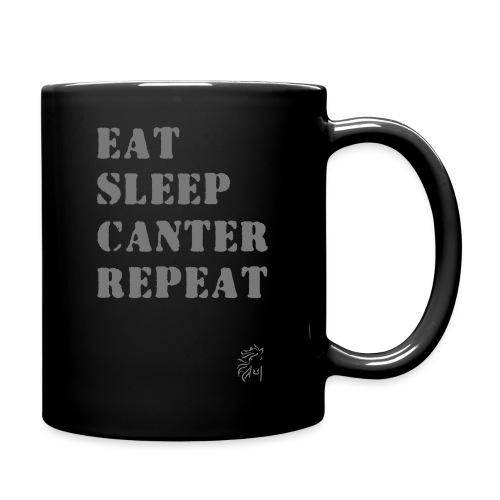 Eat Sleep Canter Repeat - Pferd Reiten VECTOR - Tasse einfarbig