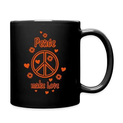 Peace make Love Frieden Liebe Herz Blumen Sommer - Full Colour Mug